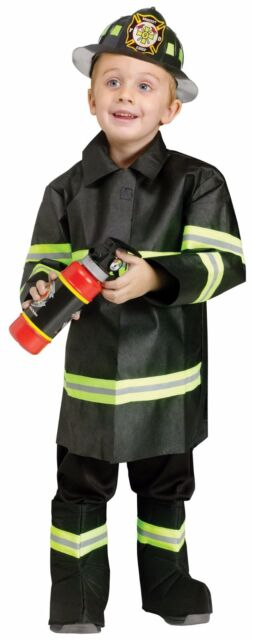 Boys Fireman Costume Firefighter Kids Child Fire Fighter Man Helmet Toddler 2T