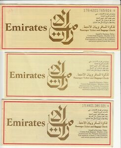 UAE-EMIRATES-AIRWAYS-LOT-OF-3-PASSENGER-TICKET-AND-BAGGAGE-CHECK