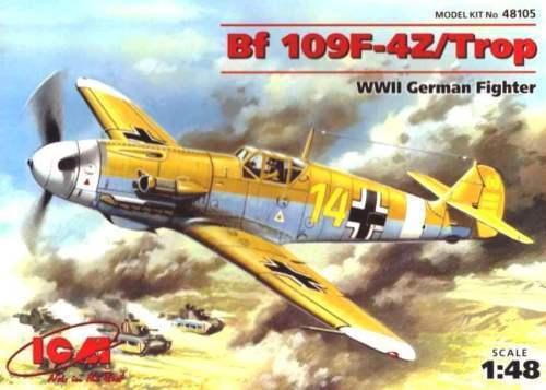 Icm Messerschmitt Bf 109F-4Z Trop II Guerra Mundial Alemania Fighter 1:48