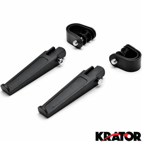Black Anti-Vibrate Engine Guard Foot Pegs Clamps For KTM Adventure 50 950 990