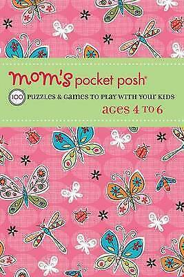 1 of 1 - Mom's Pocket Posh: 100 Puzzles & Games to Play with Your Kids Ages 4-ExLibrary