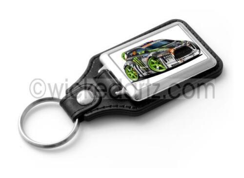 WickedKarz Cartoon Car Ken Block Fiesta WRC Stylish Key Ring