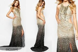deb2d73b65 A STAR IS BORN EXCLUSIVE LUXE EMBELLISHED MAXI DRESS BEADED SEQUINS ...