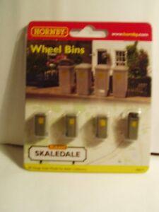 """Hornby Skaledale R8577 Wheely Bins """"00"""" Scale Haut Niveau De Qualité Et D'HygièNe"""