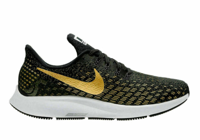 fashion styles temperament shoes the latest Nike Air Zoom Pegasus 35 Women's Running Black Gold 942855-007 Size 5.5