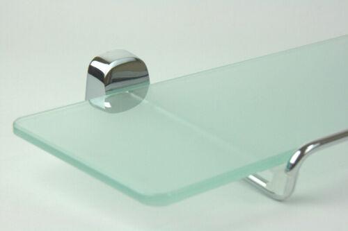 Chrom 50 cm zeitlos modern Glasablage Temperglas von Justime quadratisch