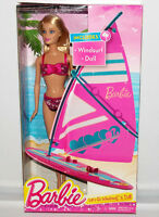 Barbie Let's Go Windsurf & On-the Beach Doll Set Fashion Figure Mattel Toy Ccv23
