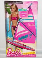 Barbie Let's Go Windsurf & On-the Beach Doll Set Fashion Figure Mattel Toy Ccv23