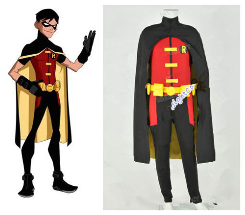 YOUNG JUSTICE Robin Costume Cosplay Tuta Outfit da festa di Halloween Halloween mm
