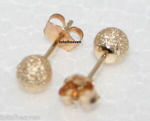 Image Is Loading Solid 14k Yellow Gold 4mm Ball Stud Earrings