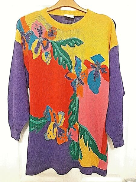 *** Vintage Betty Barclay Multi-colore Maglione Taglia Large *** Limpid In Sight