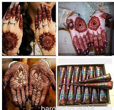 12 x Fresh Quality Kaveri Natural Henna Mehndi Tattoo Pen Cone Darkest Brown