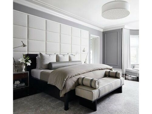 QUALITY OSLO FAUX LEATHER HEADBOARD UPHOLSTERED WALL PANEL MODERN TRENDY