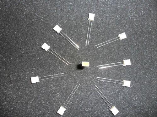 LOT OF 10 MV53124A LED CIRCUIT BOARD INDICATOR YELLOW .22 X .125 RECT