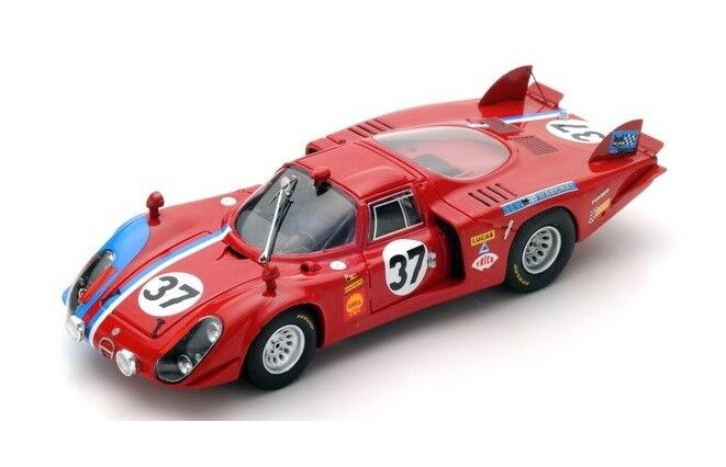 Alfa Romeo T33 2  37 Pilette-Slotemaker  Le Mans  1968 (Spark 1 43   S4369)