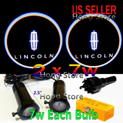 2x 7w LINCOLN Ghost Shadow Projector Laser Logo LED Courtesy Door Step Light