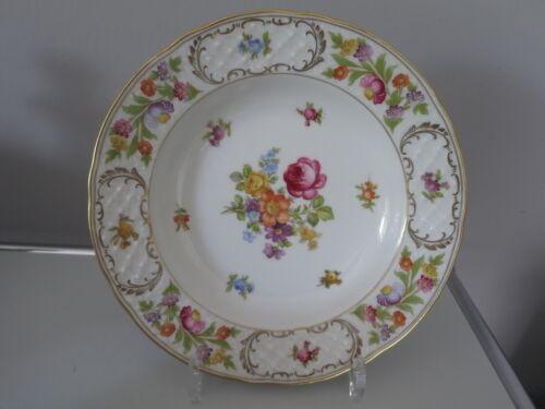 Schumann Arzberg EMPRESS Dresdner Flowers Blumen Tasse Teller Zucker Bavaria