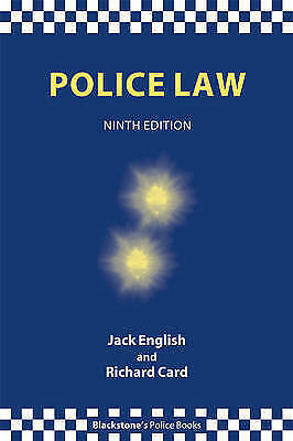 Police Law (Blackstone's Police Books)-ExLibrary