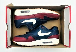 Details about Nike Air Max 1 Navy Blue Team Red Sail AH8145 400 Men's Size 9, Women's 10.5