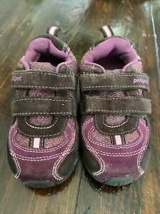 Pediped Kids Purple/Brown Suede Sneakers Tennis Shoes Size 10 (E)