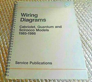 1985-86 Factory Volkswagen Wiring Diagrams Manual ...