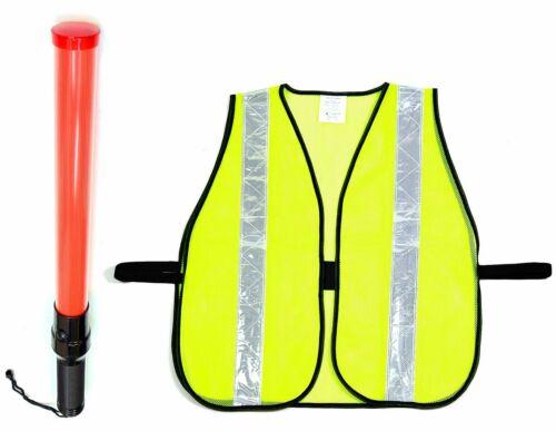 Orange Fin RK 16-Inch Signal Traffic Wand Baton LED Flashlight with Wrist Strap