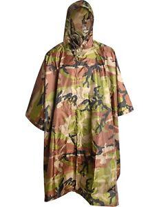 Angelsport REGENPONCHO Regen Umhang Cape Regencape US BW Bundeswehr Poncho Army Nässeschutz Regenbekleidung
