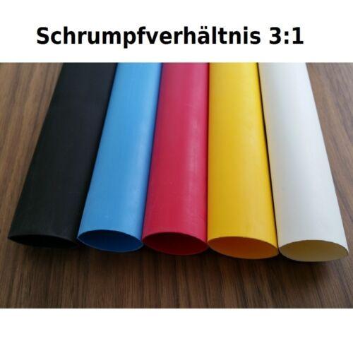 Shrink Tubing 3:1 with Glue wassserdicht 3mm to 50mm DM Size//Colour Choose