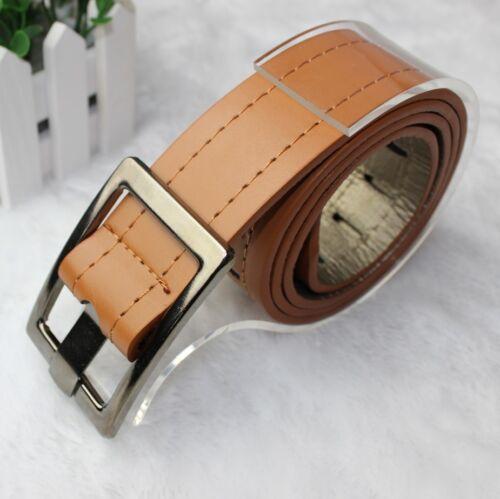 Hommes Femmes Nouveau Faux de bord en cuir ceinture boucle de fil de coutur XG