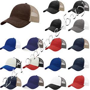 1de25d81580 Image is loading Richardson-Mens-Garment-Washed-Trucker-Cap -unstructured-low-