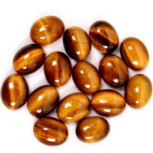 Wholesale Lot 3x5mm To 5x7mm Natural Tiger/'s eye Oval Cabochon Gemstone