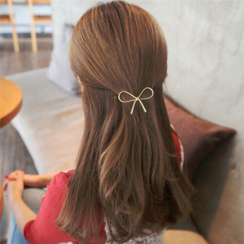 Vintage Haarnadeln Metall Bogen Knoten Haarspangen Mädchen Frauen HaarschmucRSFD