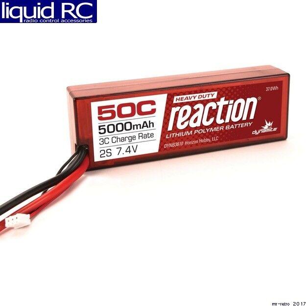 Dynamite B3810EC Reaction HD 7.4V 5000mAh 2S 50C LiPo Hardcase: EC5