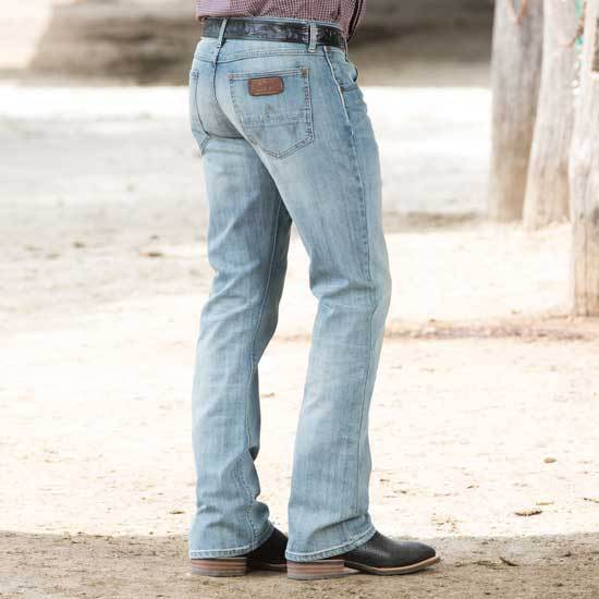 858cc617 Wrangler Men's Retro Slim Fit Jeans - Boot Cut Indigo 34w X 32l for sale  online | eBay