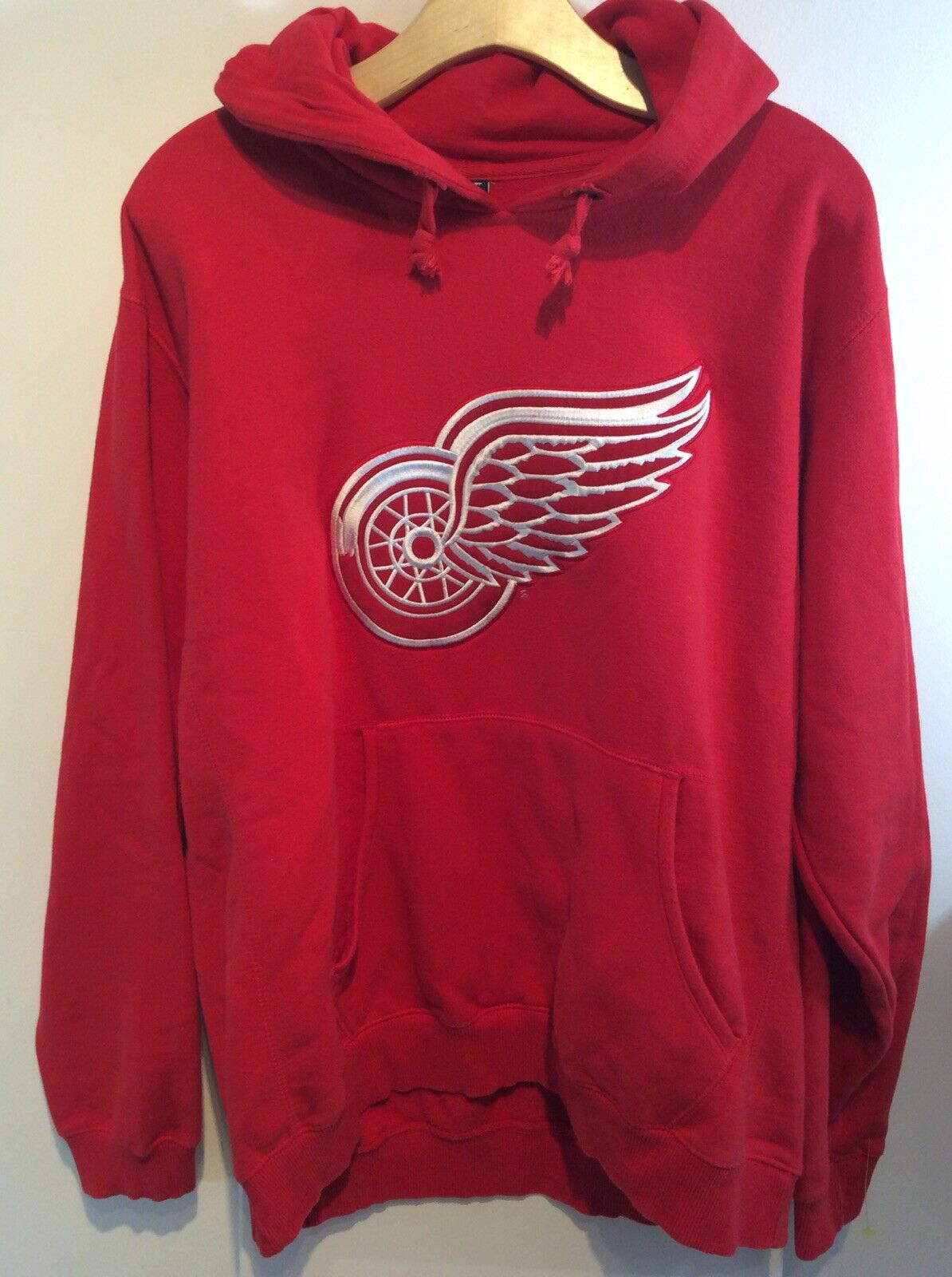 Detroit rot Wings Authentic Sweatshirt NHL Stitched Hockey XL EUC Rare