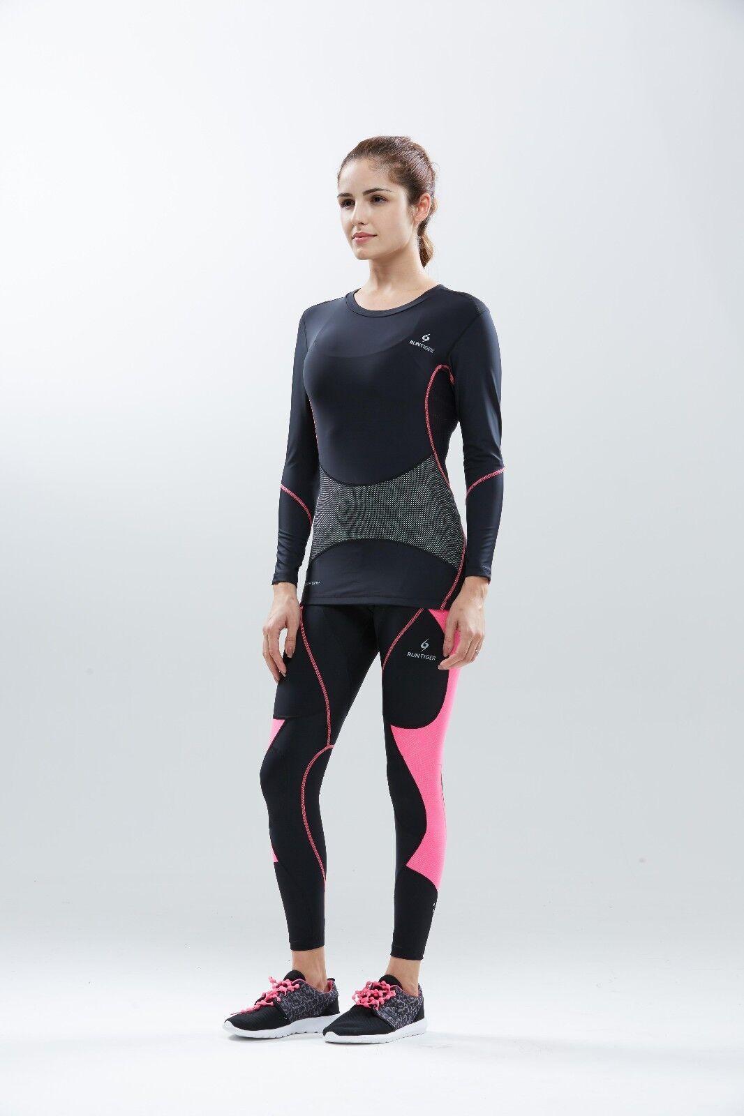 Super-Compression Tights Long für Frauen für Laufen, Radfahren, Pilates, Yoga, Fitnessraum