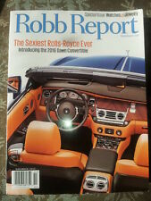 Robb Report The Sexiest Rolls Royce Ever Special Issue Nov 2015 FREE SHIPPING