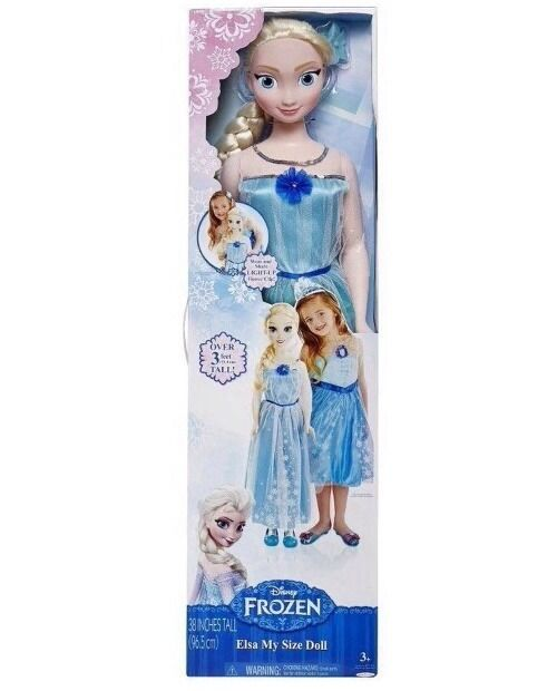 """Disney Frozen MY SIZE ELSA Doll 38"""" Over 3ft-HTF-NEW-Top Toy!Gift Wrap Available"""