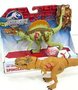 Jurassic-World-Spinosaurus-Bashers-amp-Biters-Chomping-Action-Dinosaur-NEW-amp-T-Rex