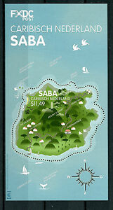 Dutch Caribbean Saba 2016 MNH Island Shaped Stamps 1v M/S Tourism