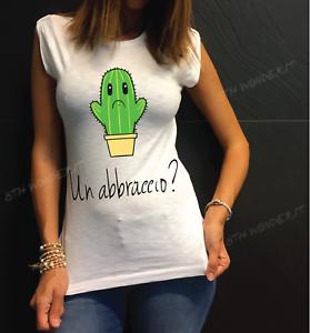 Tshirt Donna No Happiness Regalo Frase Divertente Un Abbraccio