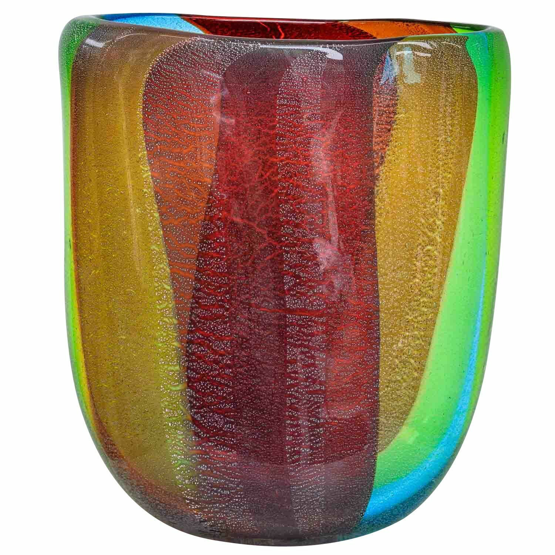 Jarrón de cristal de vidrio un jarrón en el Murano estilo vintage 33cm