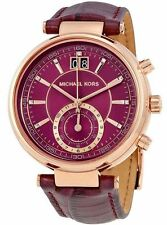 MICHAEL KORS MK2580 Uhr  Armbanduhr Sawyer violett rose Chronograph  NEU