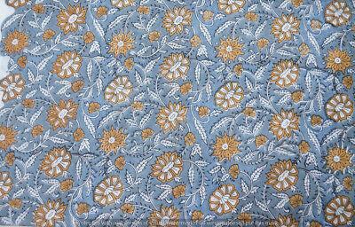 Running 100/% Cotton Voile Fabric10 yard gray Multi Sewing Hand Block Print Craft