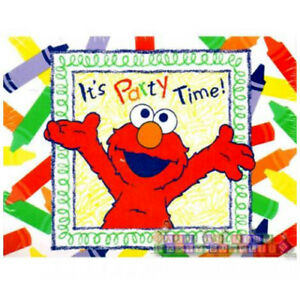 Details About Sesame Street Elmo S World Invitations 8 Birthday Party Supplies Invites Pbs