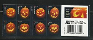 5137-5140 Jack O Lanterns Complete Booklet of 20 Forever Halloween Pumpkin