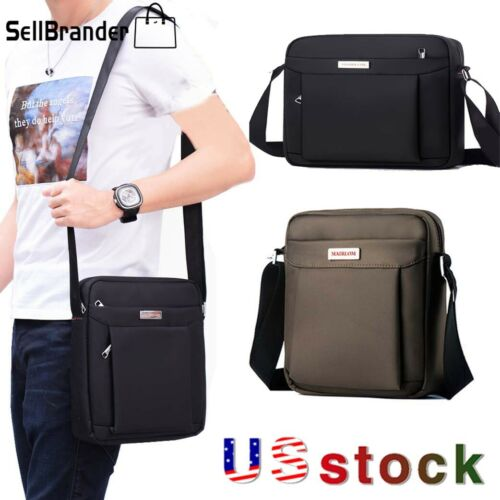 Mens Waterproof Oxford Messenger Business Handbag Crossbody Shoulder Bag Satchel