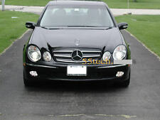 Mercedes W211 Grill E320 E500 E55 Grille 3 fins black + flat hood emblem badge