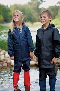 CHILDS-REGATTA-STORMBREAK-WATERPROOF-JACKET-amp-TROUSERS-SET-SUIT-BOYS-GIRLS-KIDS