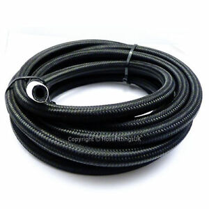 SUNROAD 8AN 15Ft Universal Braided Oil Fuel Line Hose Stainless Steel Nylon w//10PC Swivel Fitting Hose Ends /& 2PC Hose Separators Kit